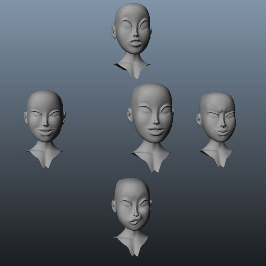 Characters pack royalty-free 3d model - Preview no. 16