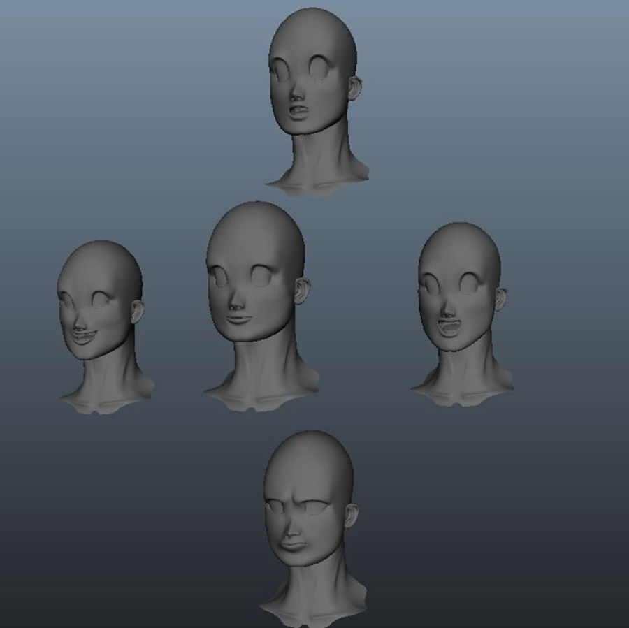 Characters pack royalty-free 3d model - Preview no. 8