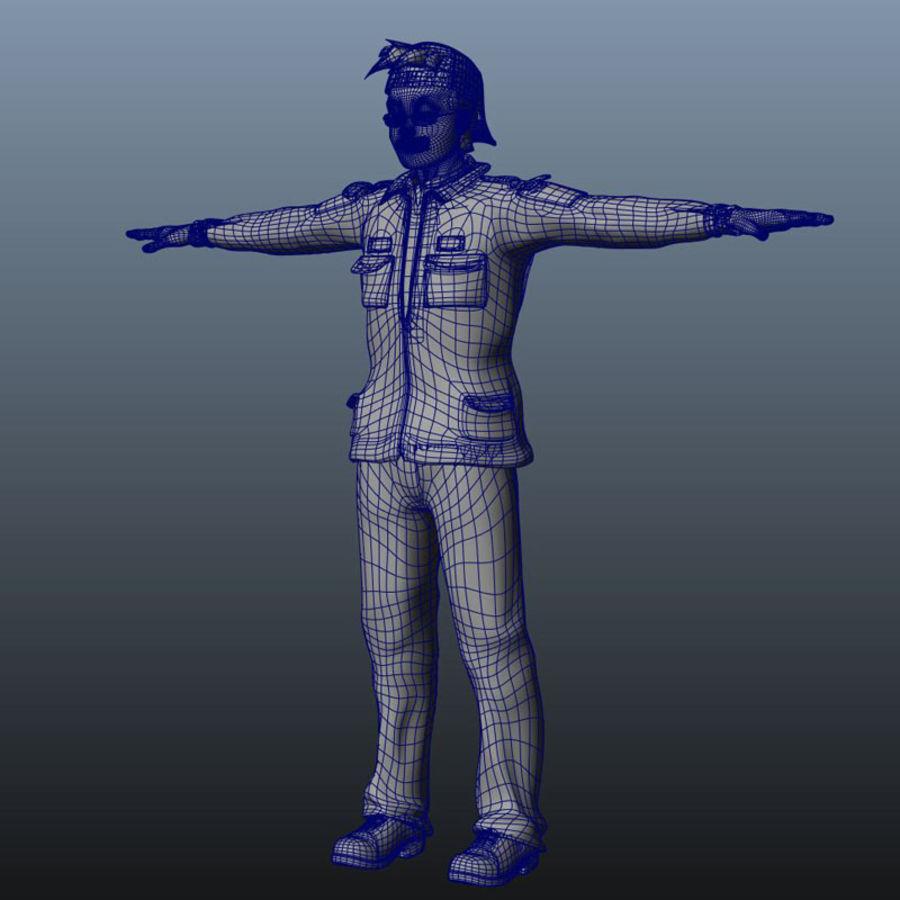 Karakter paketi royalty-free 3d model - Preview no. 26