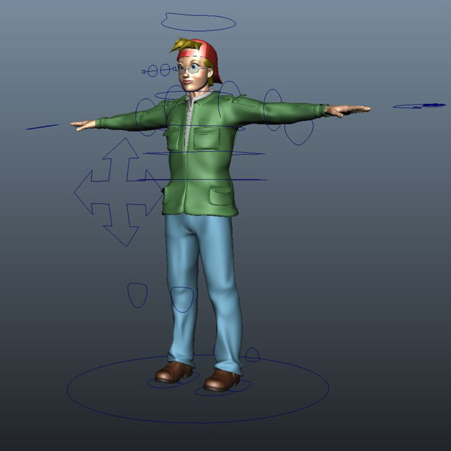 Tecken packa royalty-free 3d model - Preview no. 20