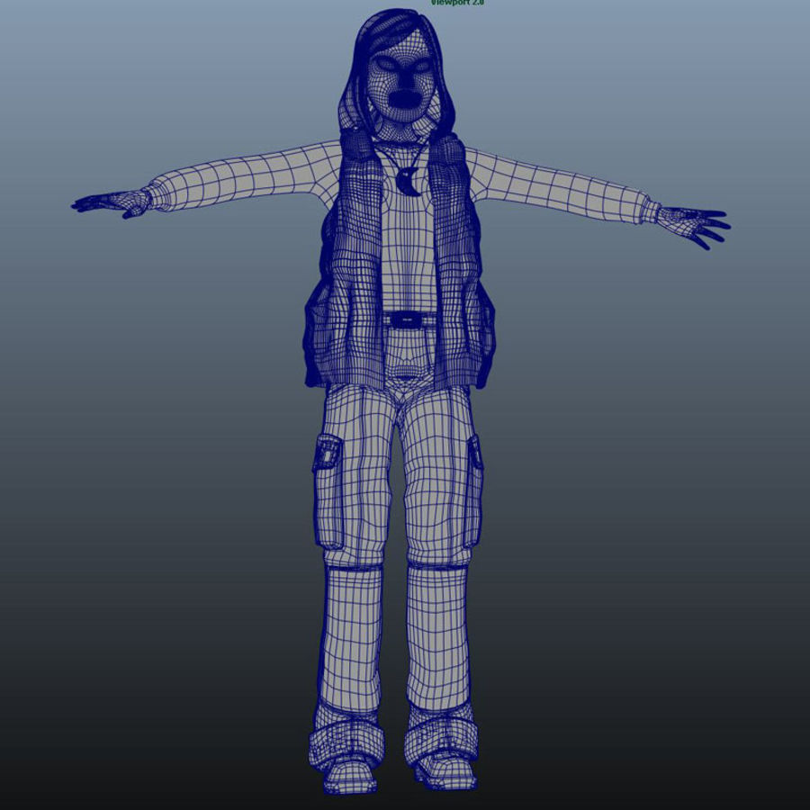 Tecken packa royalty-free 3d model - Preview no. 34