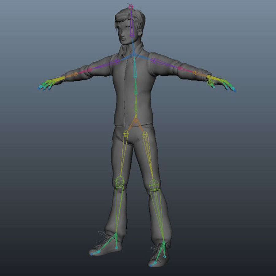 Tecken packa royalty-free 3d model - Preview no. 9
