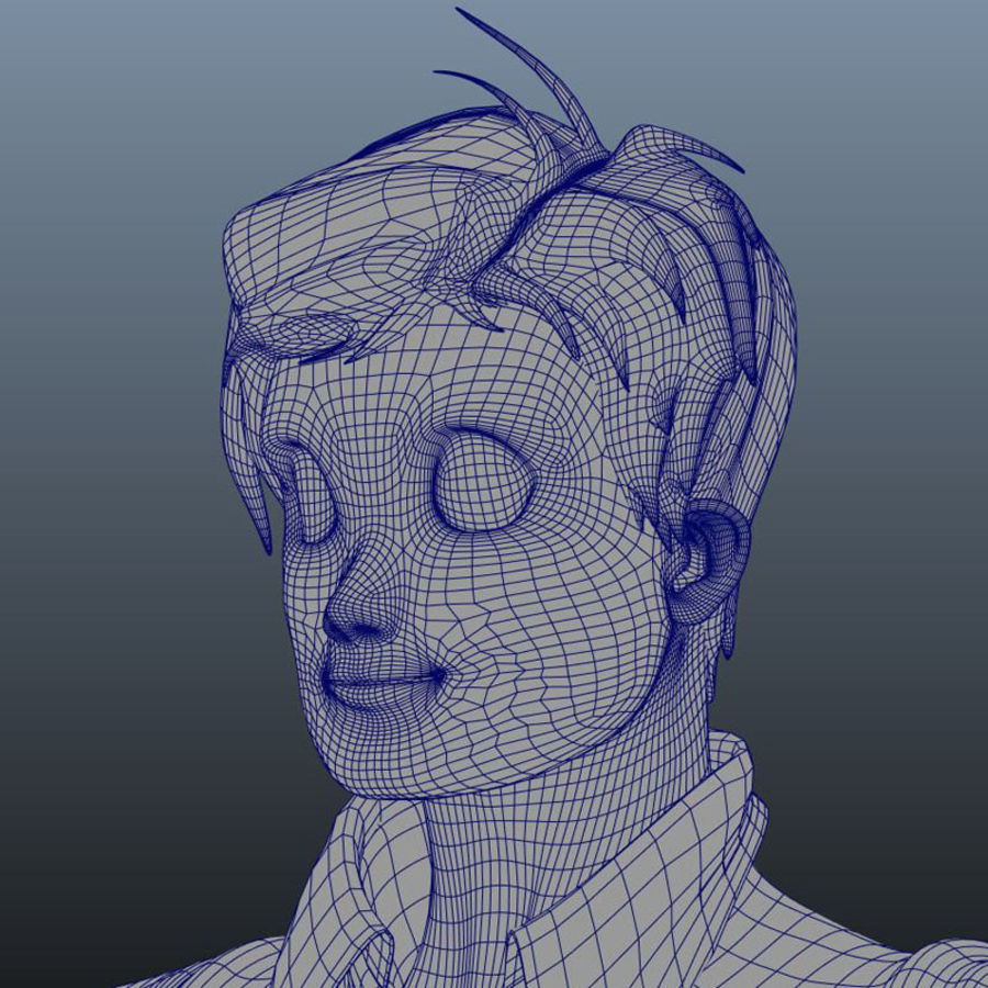 Characters pack royalty-free 3d model - Preview no. 11