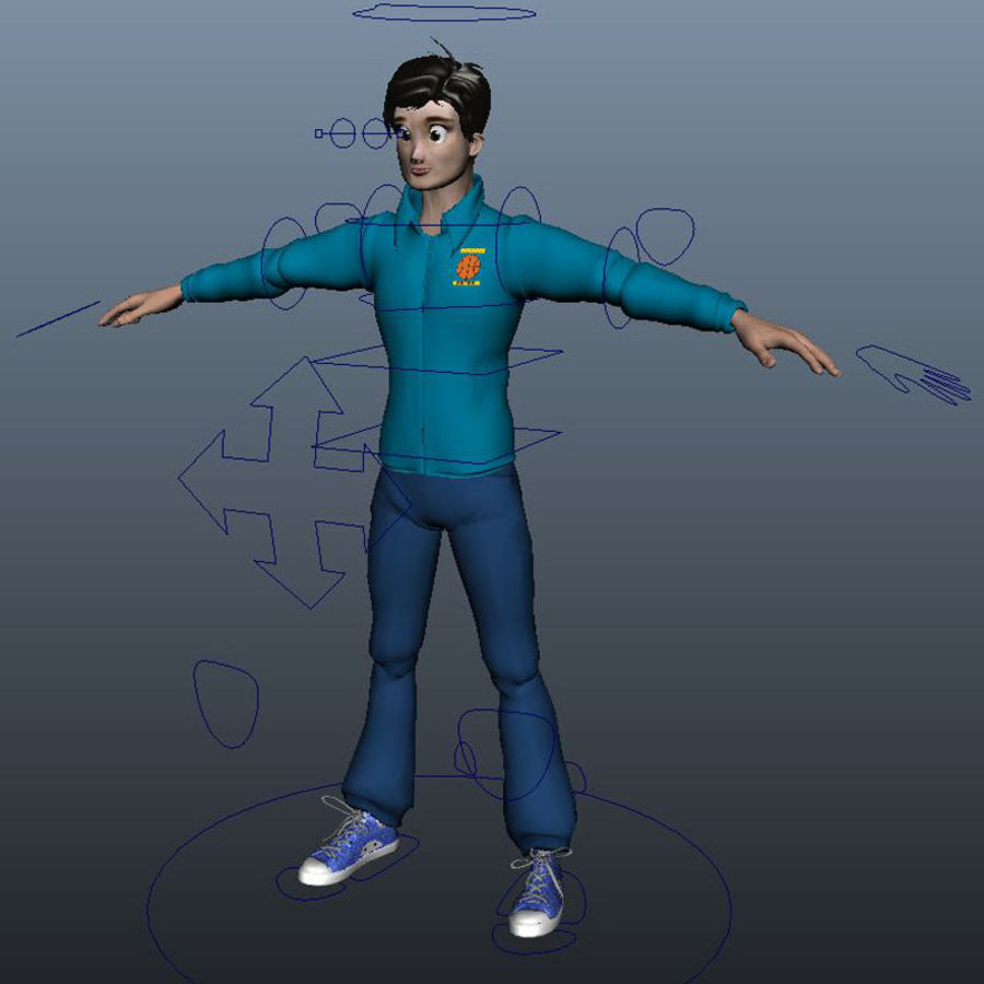 Tecken packa royalty-free 3d model - Preview no. 4