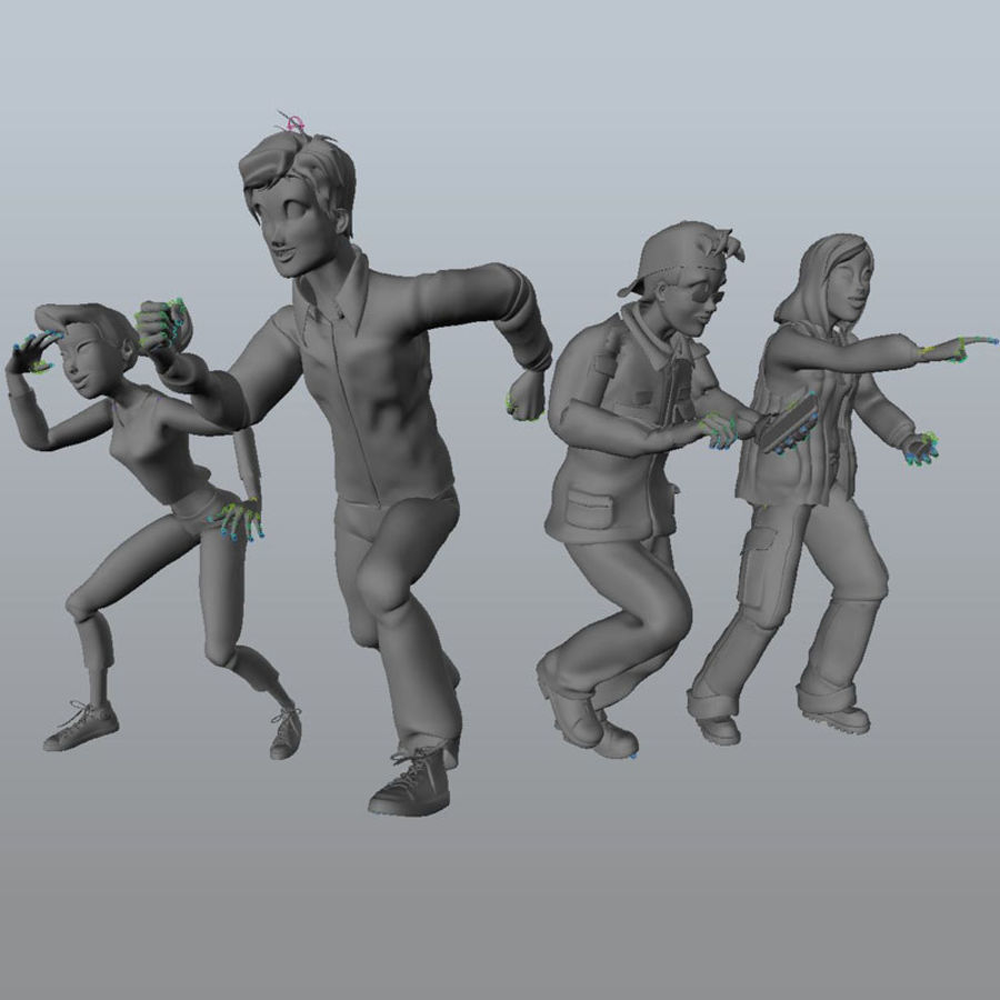 Characters pack royalty-free 3d model - Preview no. 2