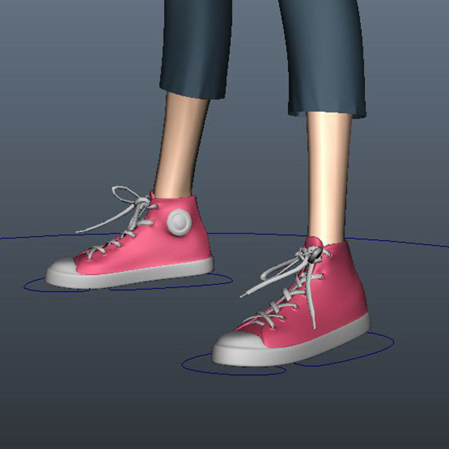 Tecken packa royalty-free 3d model - Preview no. 14