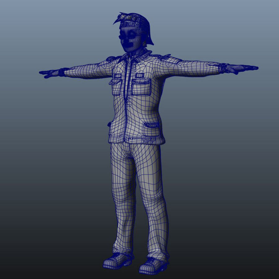 Tecken packa royalty-free 3d model - Preview no. 26