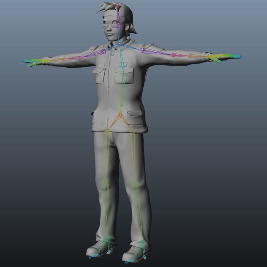 Tecken packa royalty-free 3d model - Preview no. 25