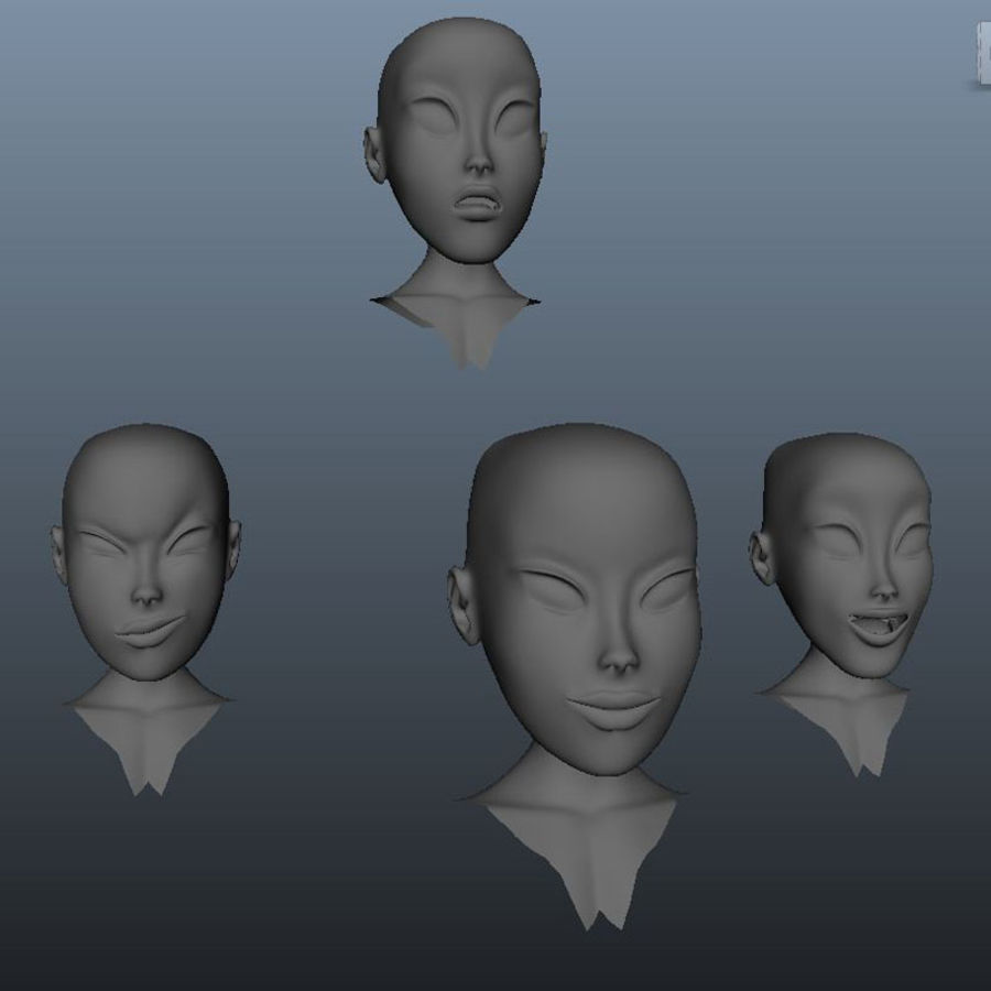 Karakter paketi royalty-free 3d model - Preview no. 32