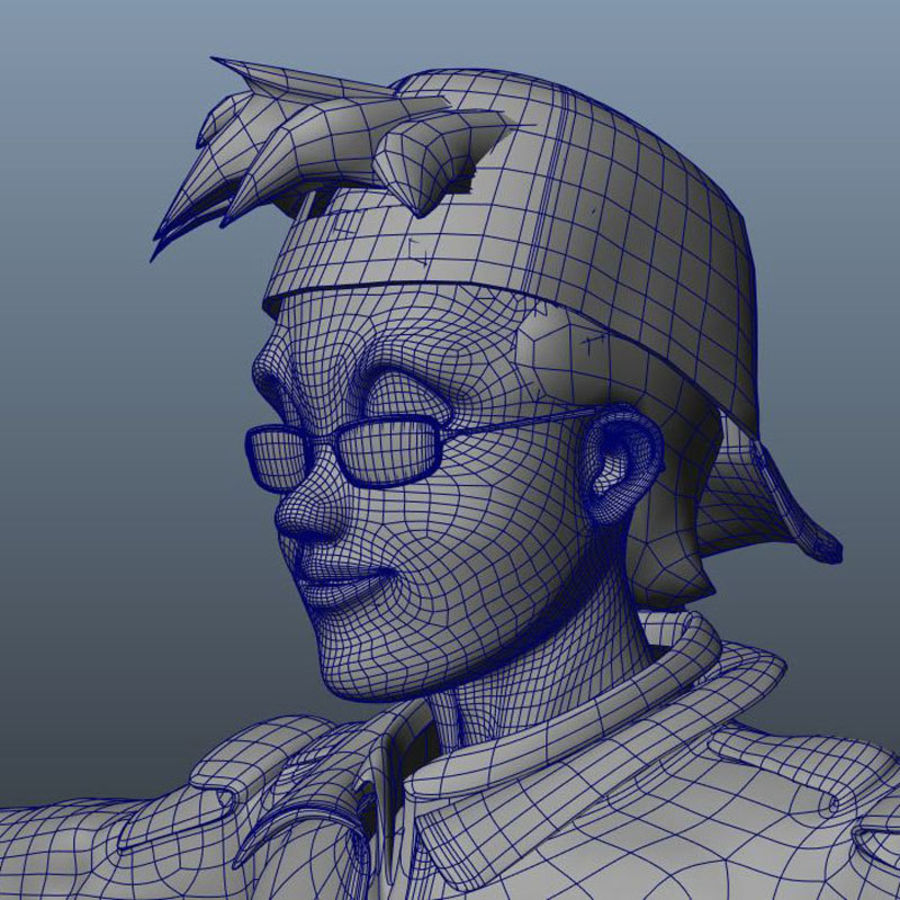 Tecken packa royalty-free 3d model - Preview no. 27