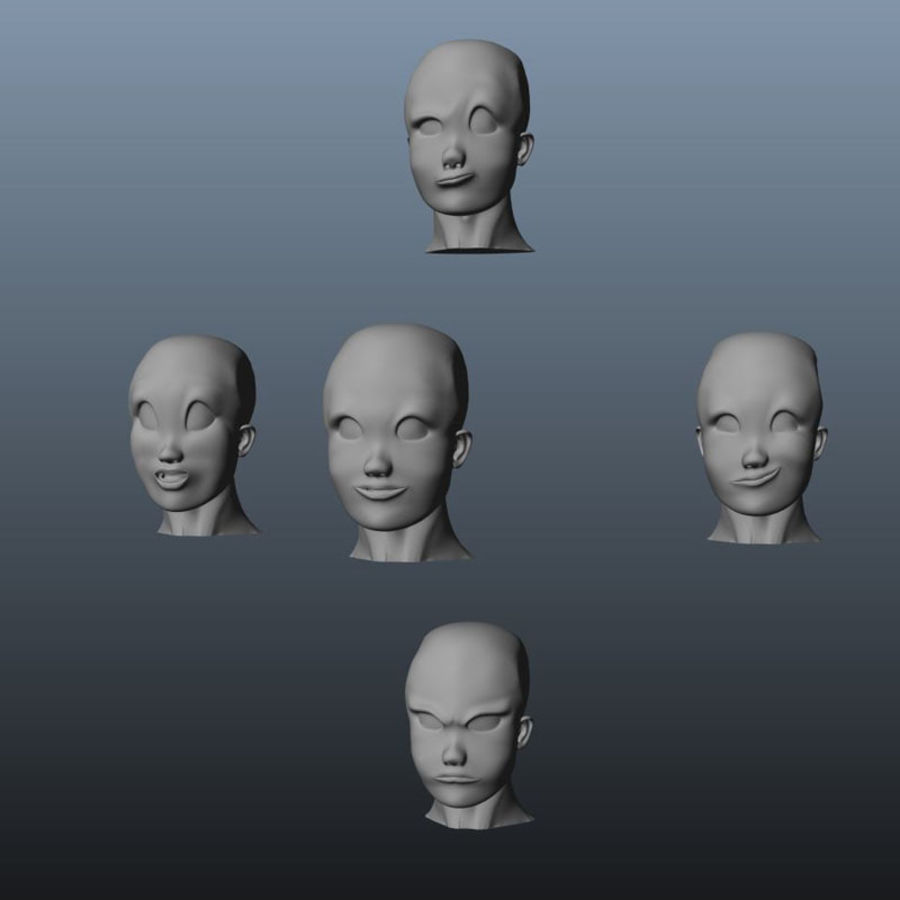 Characters pack royalty-free 3d model - Preview no. 24