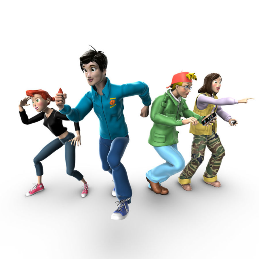 Characters pack royalty-free 3d model - Preview no. 1