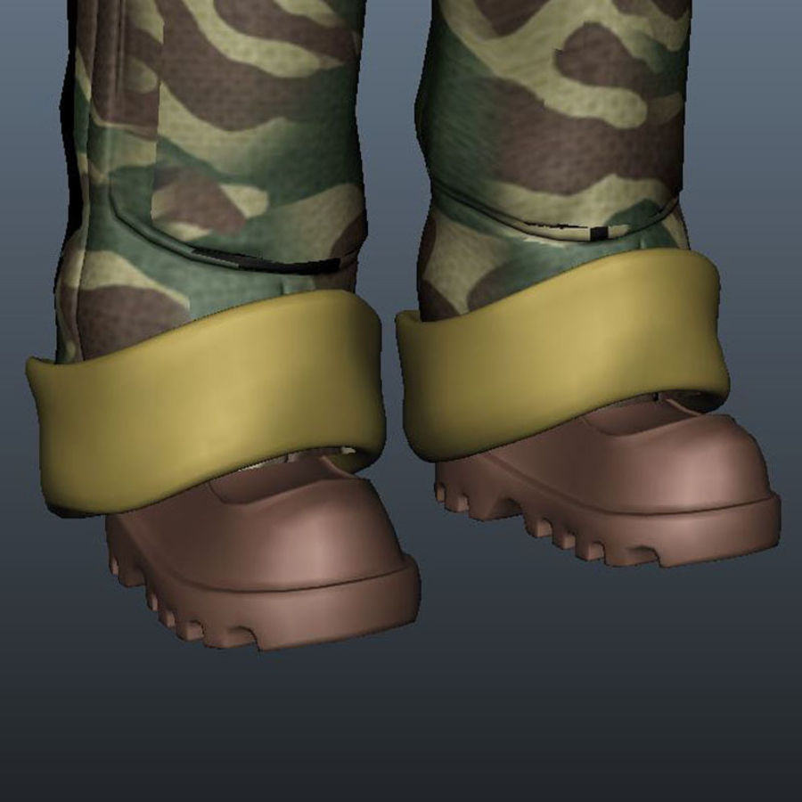 Tecken packa royalty-free 3d model - Preview no. 30