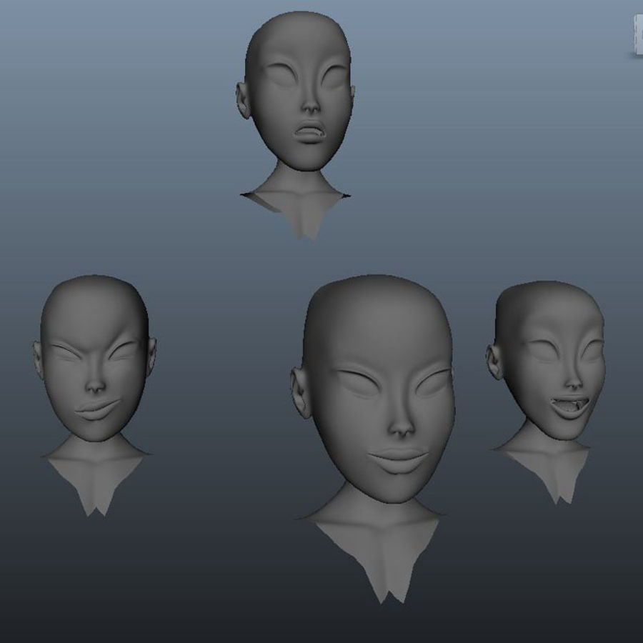 Characters pack royalty-free 3d model - Preview no. 32