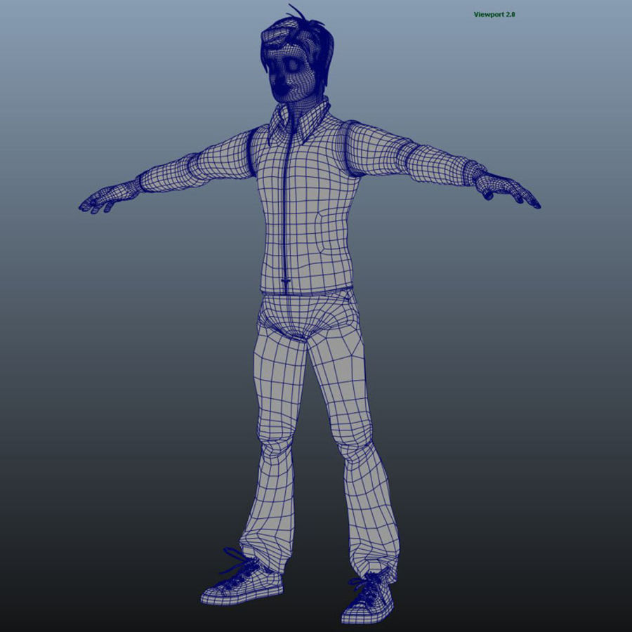 Tecken packa royalty-free 3d model - Preview no. 10