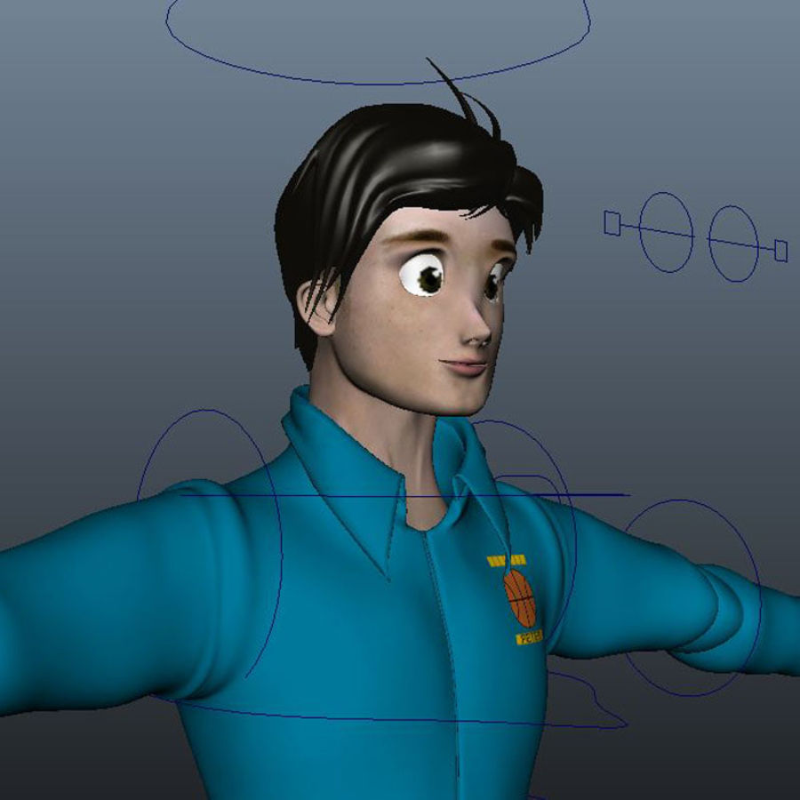 Tecken packa royalty-free 3d model - Preview no. 7