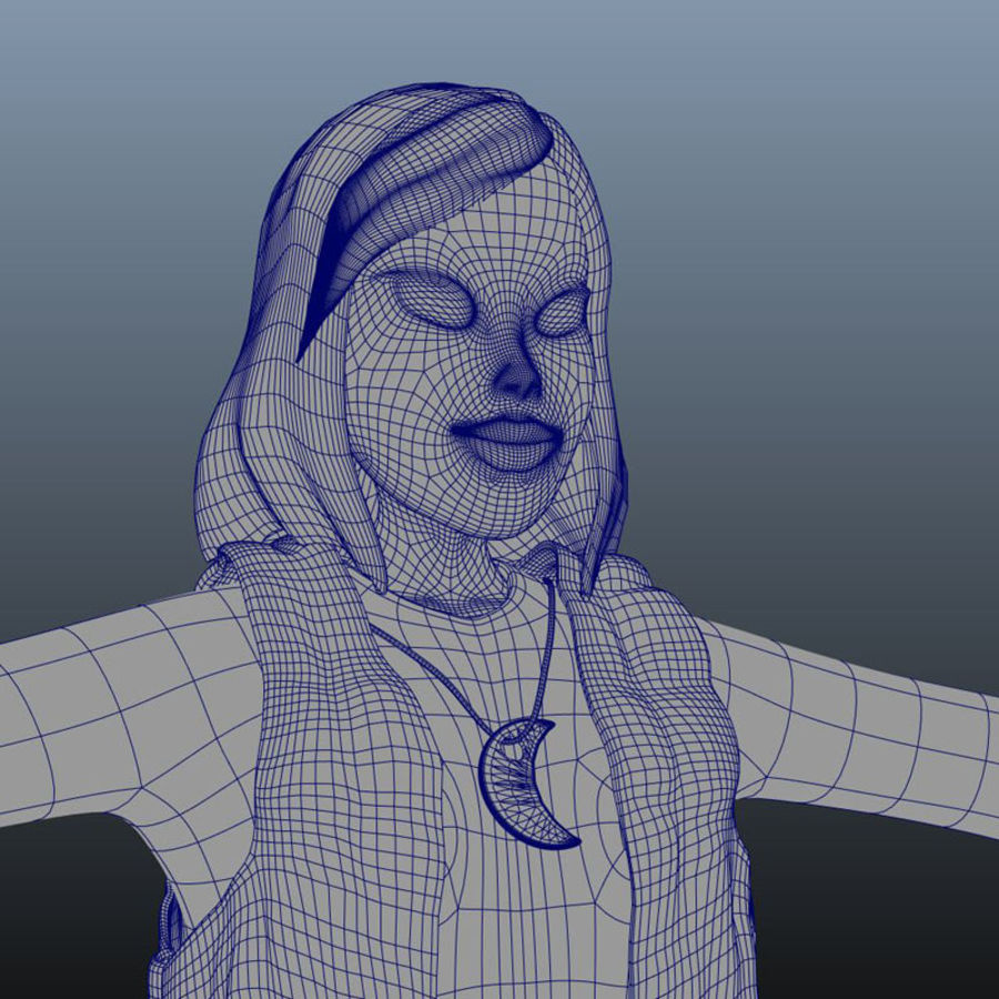 Tecken packa royalty-free 3d model - Preview no. 35