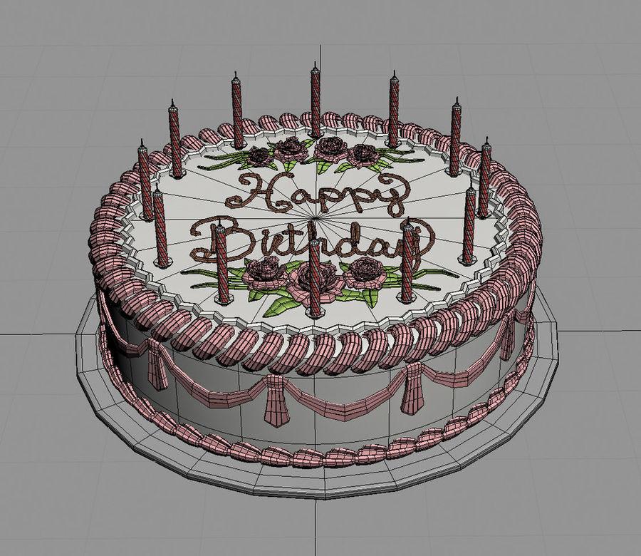 Birthday Cake 3d Model 49 Obj X Free3d