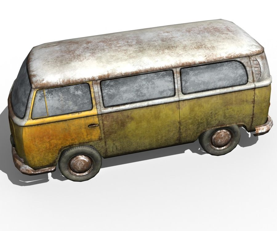 Rusted volks royalty-free 3d model - Preview no. 13