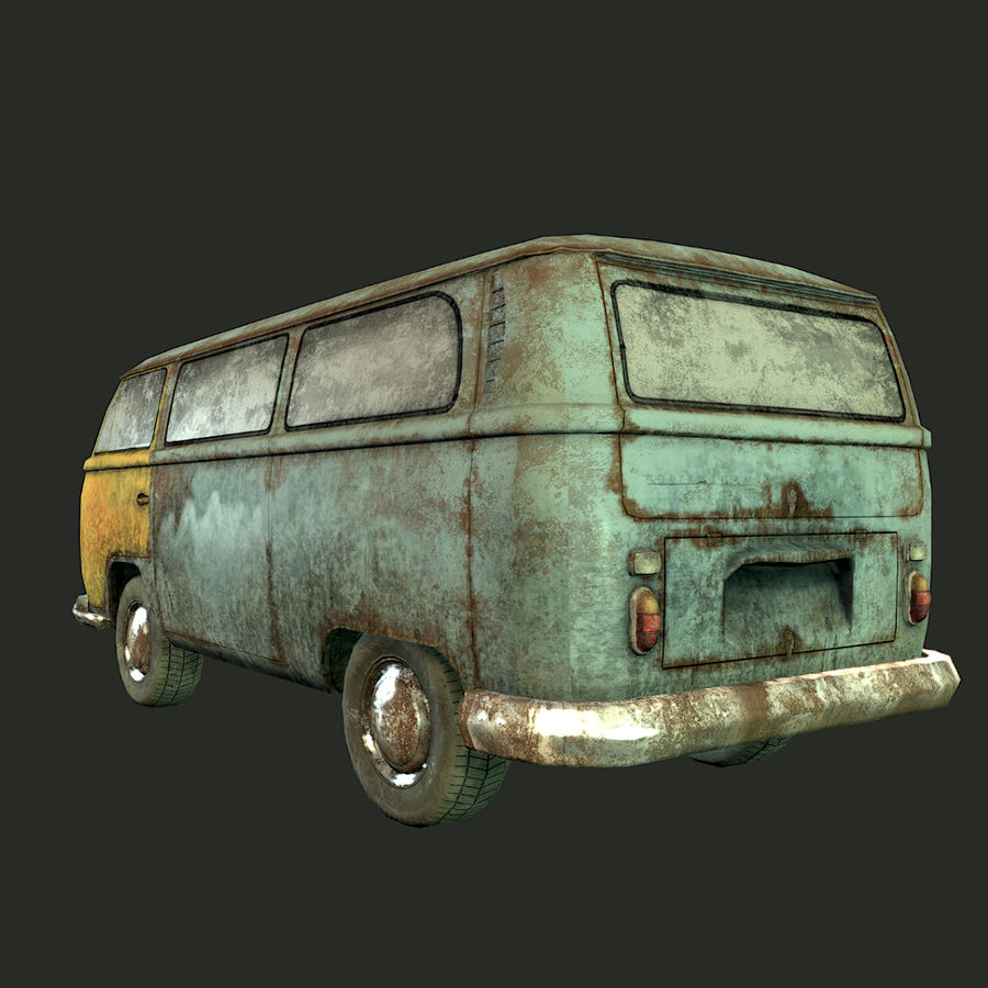 Rusted volks royalty-free 3d model - Preview no. 11