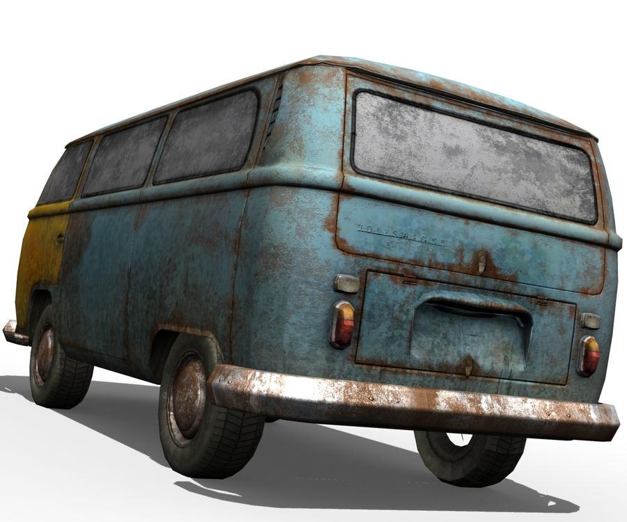 Rusted volks royalty-free 3d model - Preview no. 5