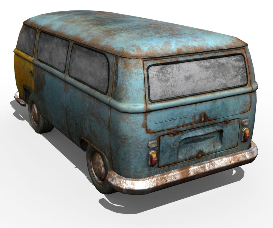 Rusted volks royalty-free 3d model - Preview no. 8