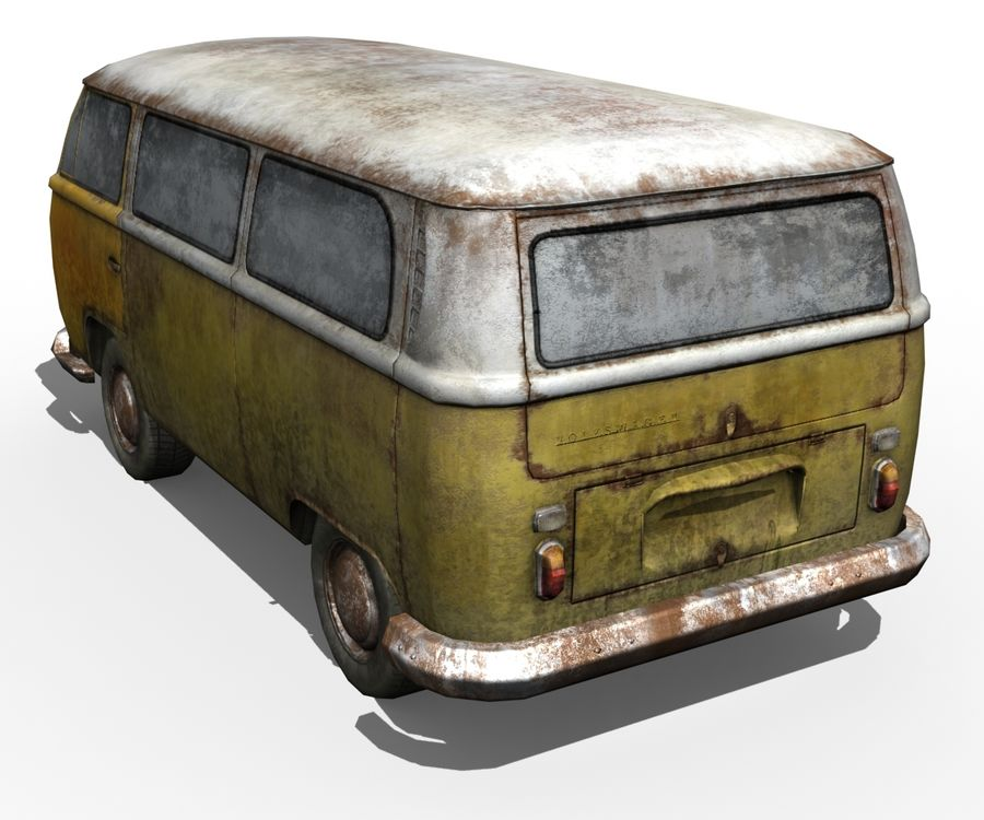 Rusted volks royalty-free 3d model - Preview no. 9