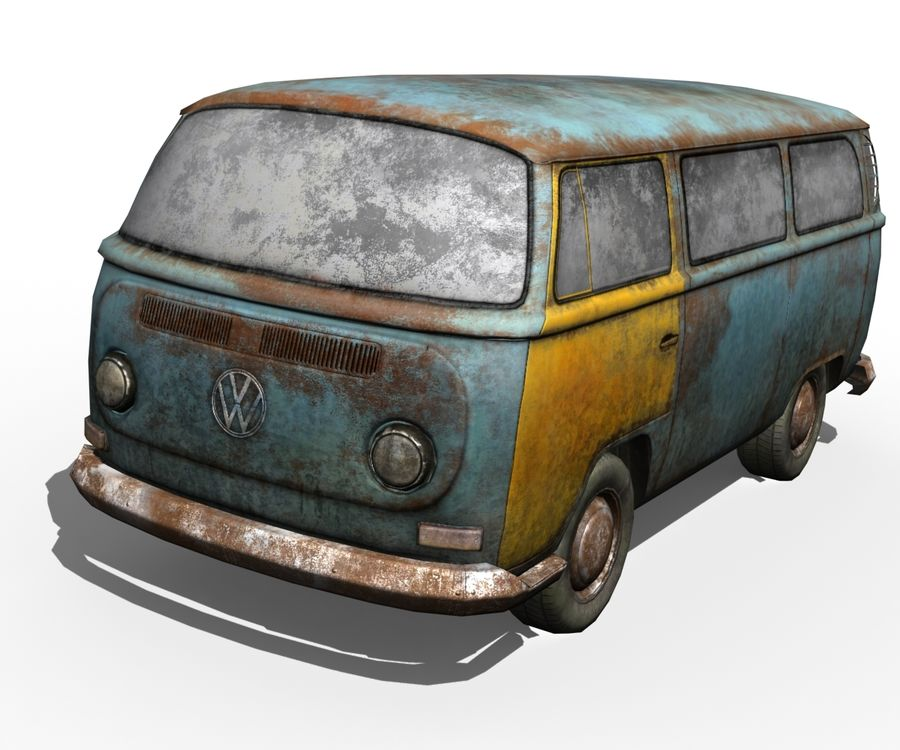 Rusted volks royalty-free 3d model - Preview no. 3
