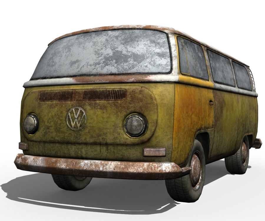 Rusted volks royalty-free 3d model - Preview no. 6