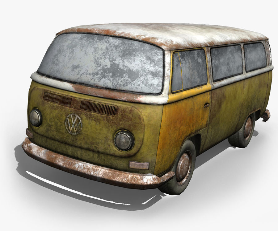 Rusted volks royalty-free 3d model - Preview no. 1