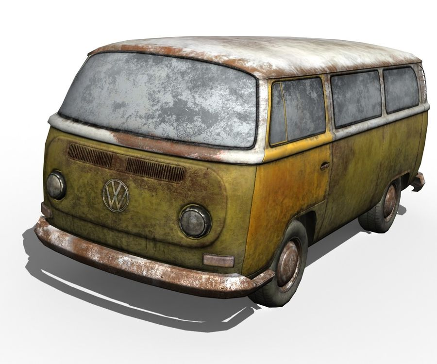 Rusted volks royalty-free 3d model - Preview no. 2