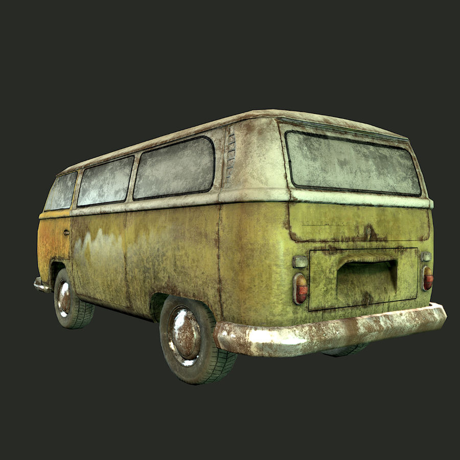 Rusted volks royalty-free 3d model - Preview no. 10