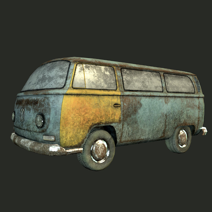 Rusted volks royalty-free 3d model - Preview no. 14