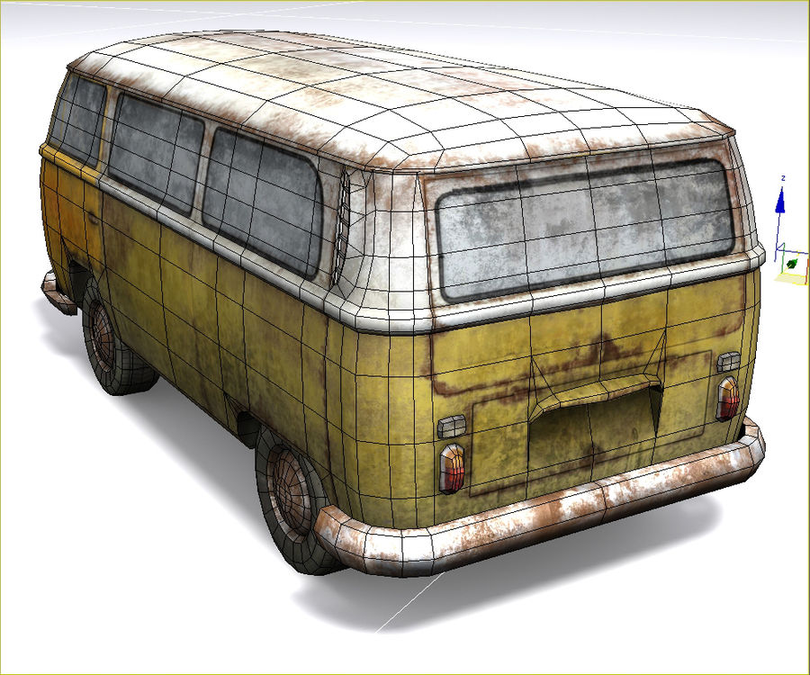 Rusted volks royalty-free 3d model - Preview no. 19