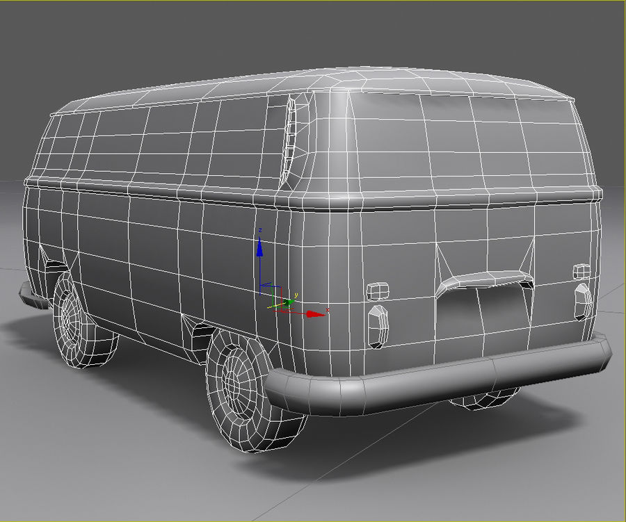 Rusted volks royalty-free 3d model - Preview no. 17