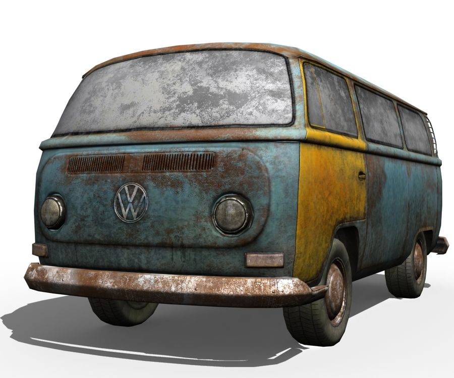 Rusted volks royalty-free 3d model - Preview no. 7