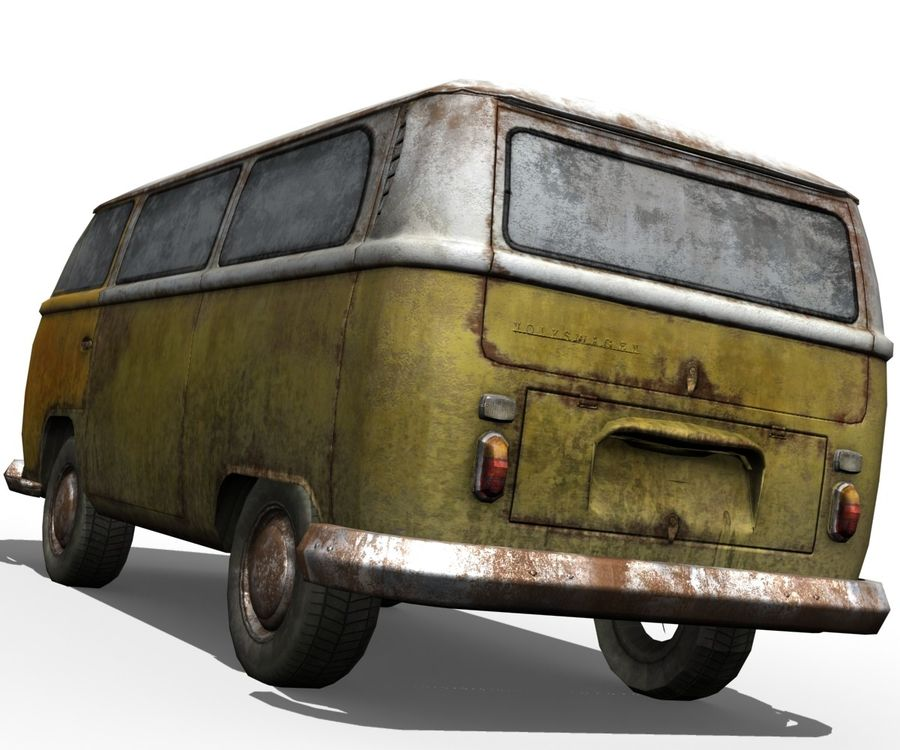 Rusted volks royalty-free 3d model - Preview no. 4