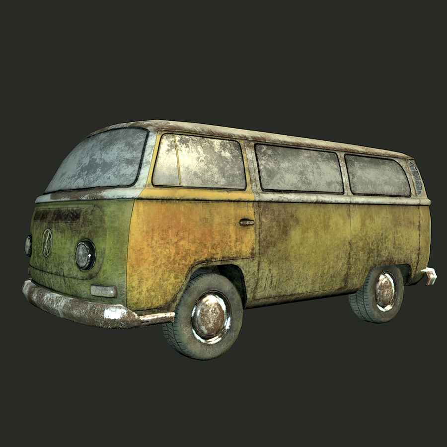 Rusted volks royalty-free 3d model - Preview no. 12