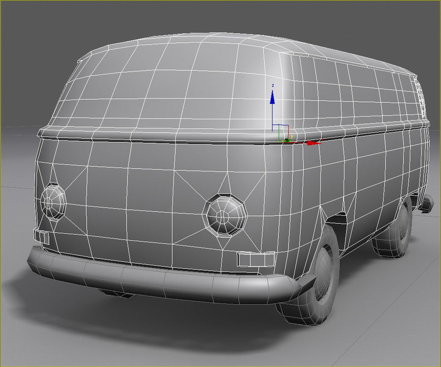 Rusted volks royalty-free 3d model - Preview no. 16