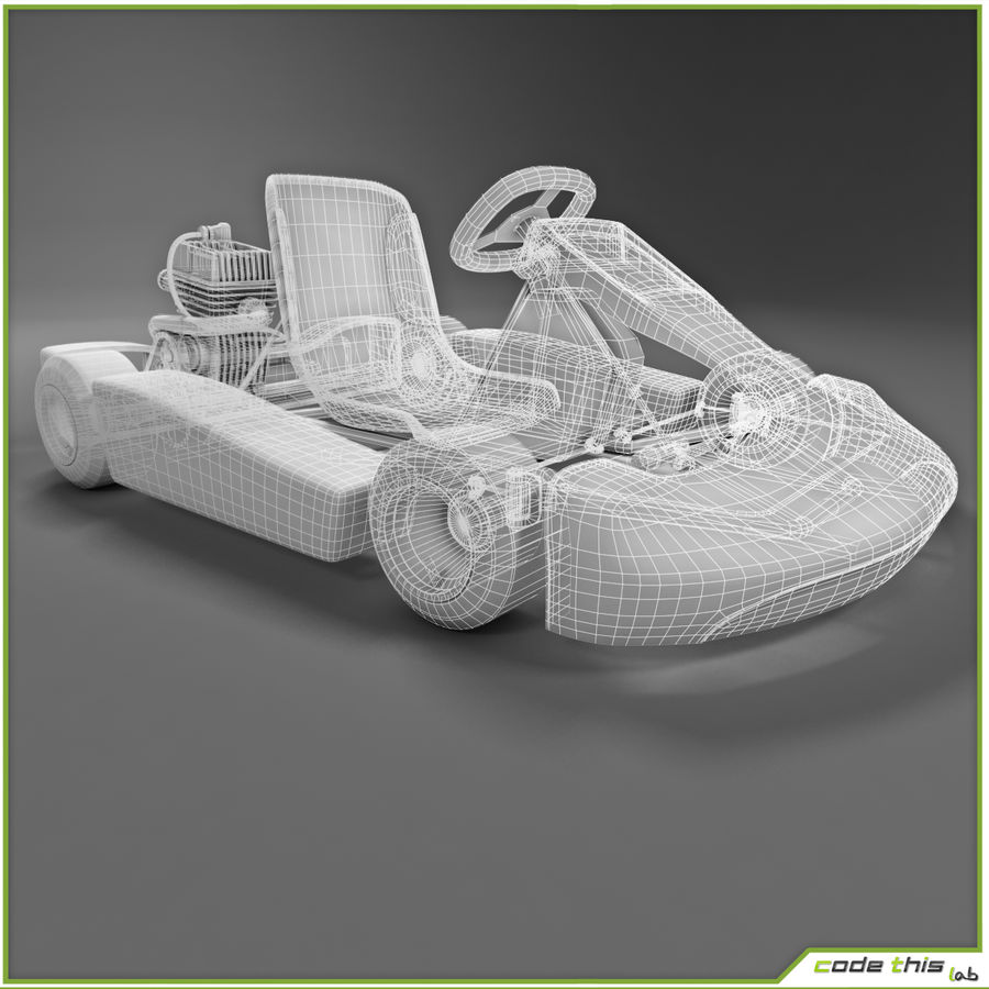 Go Kart 3D royalty-free 3d model - Preview no. 4