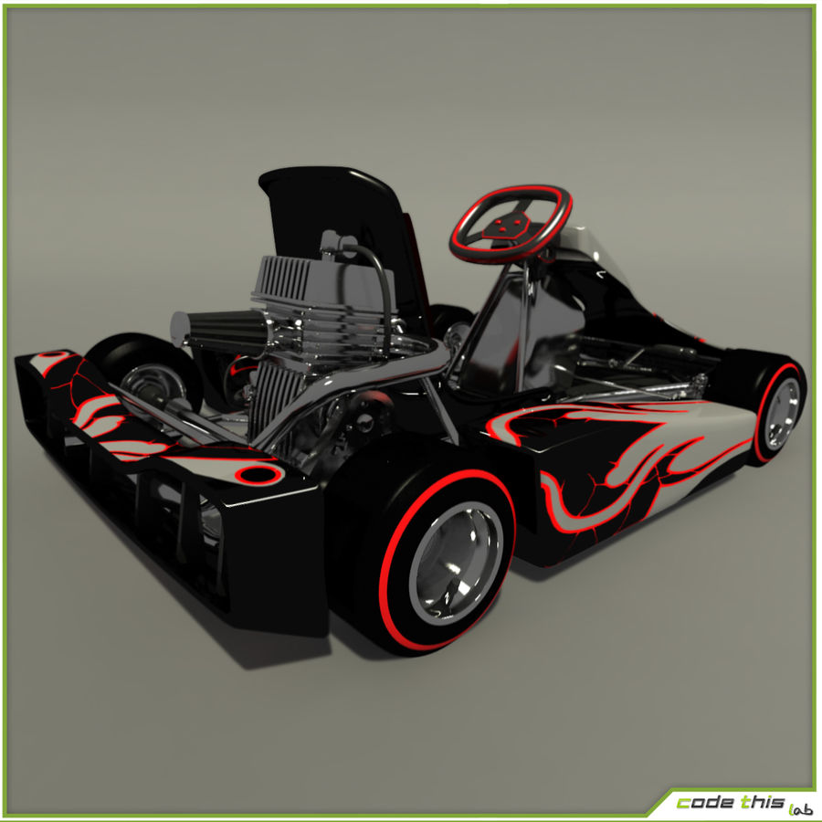 Go Kart 3D royalty-free 3d model - Preview no. 3
