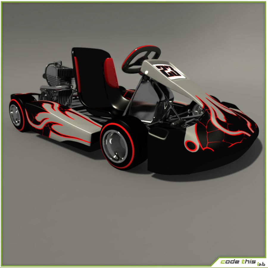 Go Kart 3D royalty-free 3d model - Preview no. 5