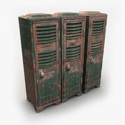 Heavy Metal Lockers Three Empty 3d model