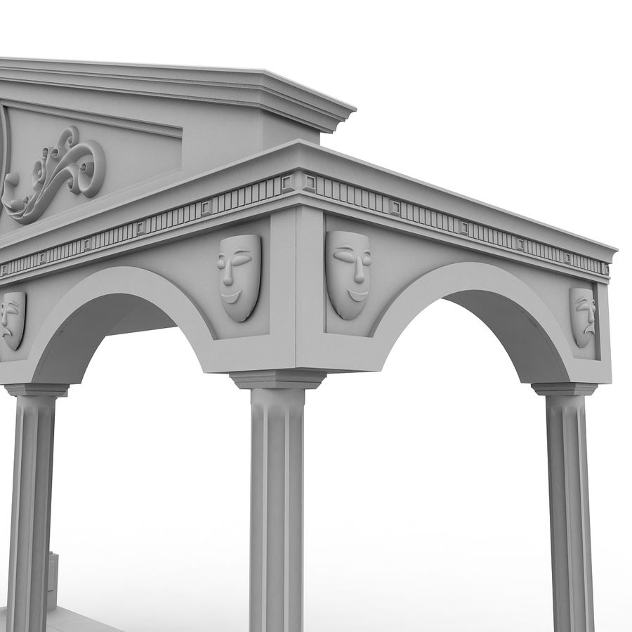 Entry Building Element royalty-free 3d model - Preview no. 3