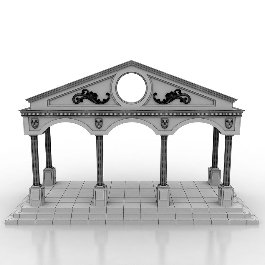 Entry Building Element royalty-free 3d model - Preview no. 7