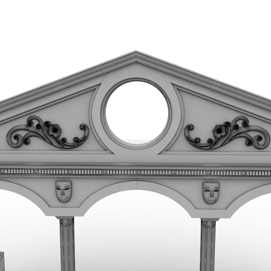 Entry Building Element royalty-free 3d model - Preview no. 8