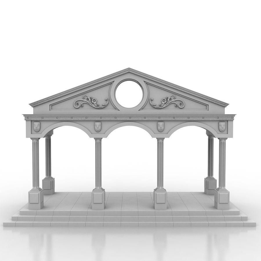 Entry Building Element royalty-free 3d model - Preview no. 1