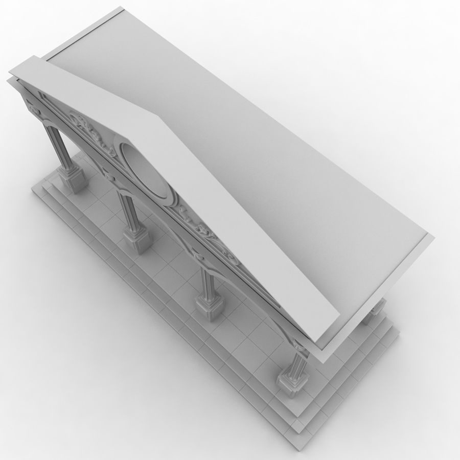 Entry Building Element royalty-free 3d model - Preview no. 4