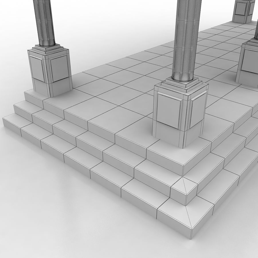 Entry Building Element royalty-free 3d model - Preview no. 11