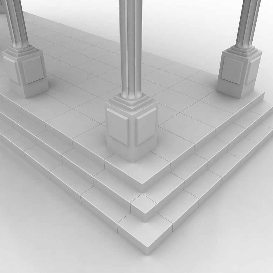 Entry Building Element royalty-free 3d model - Preview no. 5